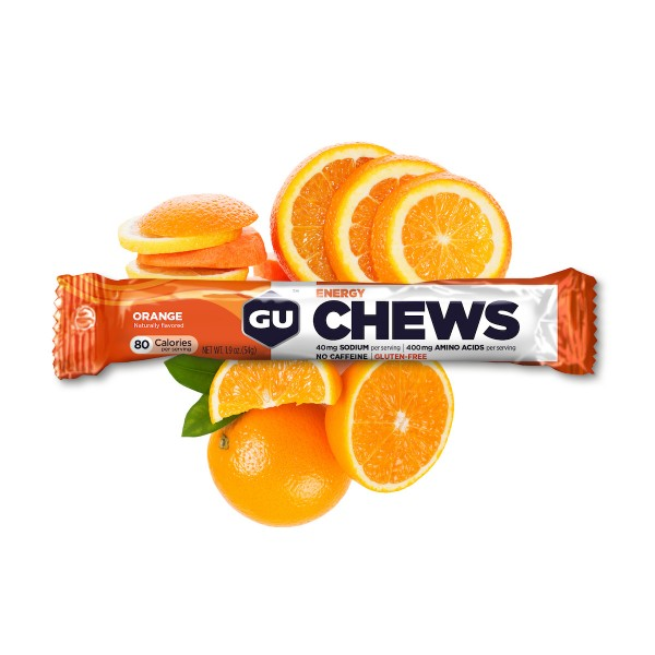 Energy Chews Fruchtgummis MHD 04.09.2020 Orange
