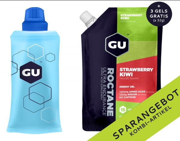 Roctane Energy Gel Vorratspack + Serving Flask + 3 GRATIS Gels