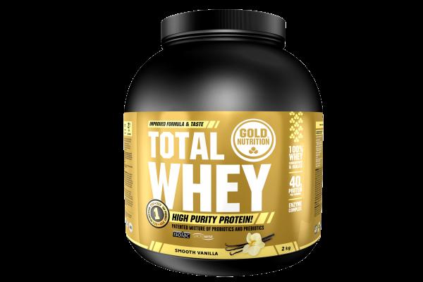 GoldNutrition Total Whey 2 KG Protein Shake Vanille MHD 28.11.2022