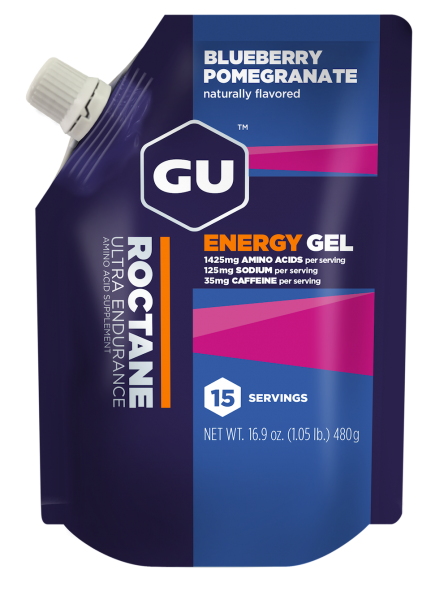 ROCTANE Energy Gel MHD 01.01.2021 Vorratsbeutel Blueberry Pomegranate Heidelbeere Granatapfel