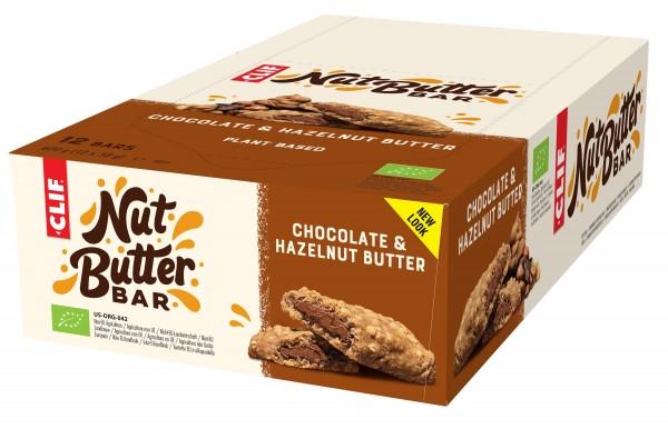 CLIF Bio Energie Riegel Nut Butter Bar Chocolate & Hazelnut Butter MHD 04.05.2021