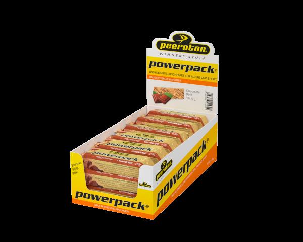 peeroton Powerpack Energie Riegel 18 x 50 Gramm MHD 02.10.2021 Chocolate Split