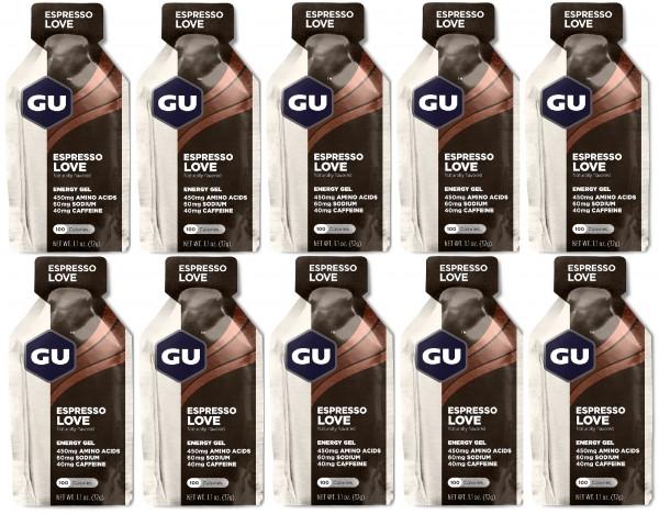 GU Energy Gel 50 Stück MHD 31.12.2019 Espresso Love