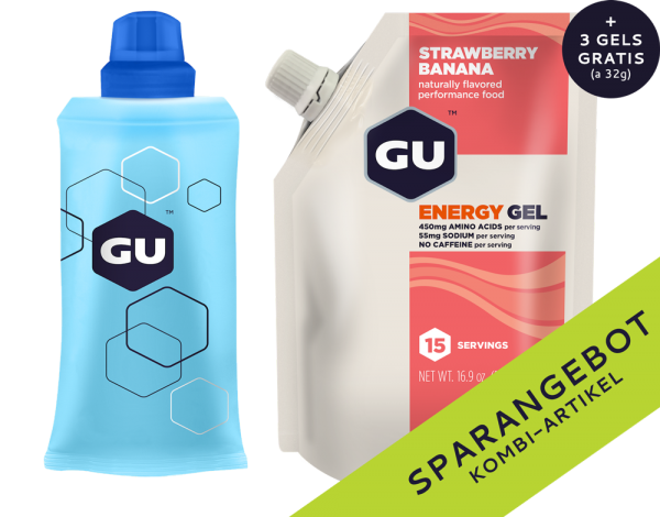 Energy Gel Vorratspack + Serving Flask + 3 GRATIS Gels