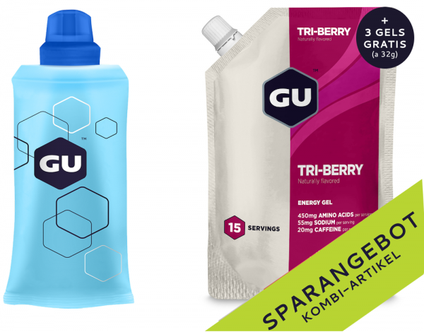 Energy Gel Vorratspack + Serving Flask + 3 GRATIS Gels