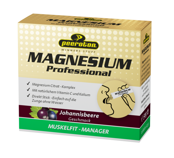 peeroton Magnesium Sticks 20 x 2,5 Gramm MHD 01.10.2021 Johannisbeere