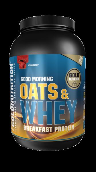 GoldNutrition Protein Shake Oats&Whey Hafer&Molke Erdbeere 1000 Gramm MHD 01.11.2020