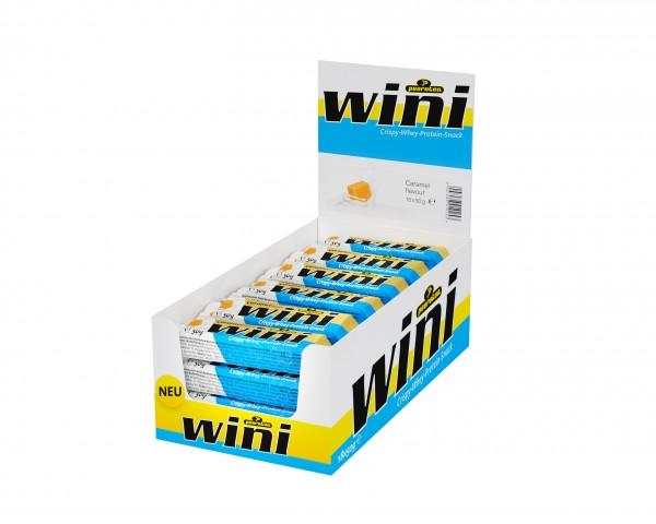 peeroton Wini Crispy-Whey-Protein-Snack Caramel 18 x 50 Gramm MHD 14.02.2021