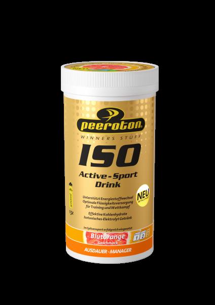 peeroton Iso Active-Sport Drink MHD 01.04.2021 Blutorange 300 Gramm Dose