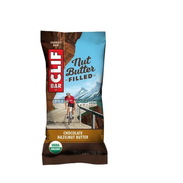 CLIF Bio Energie Riegel Nut Butter Filled Chocolate Hazelnut Butter MHD 19.04.2020