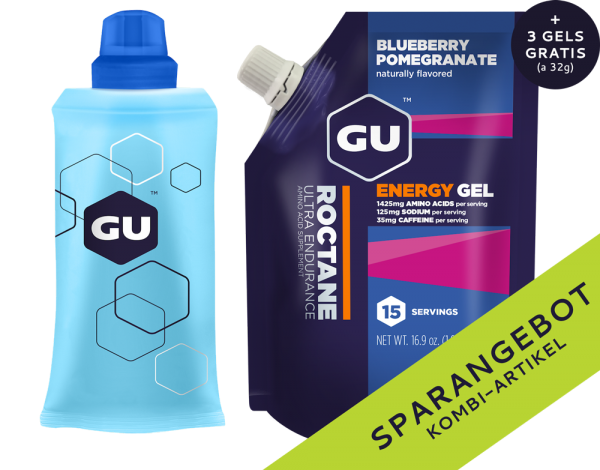 Roctane Energy Gel Vorratspack + Serving Flask + 3 GRATIS Gels