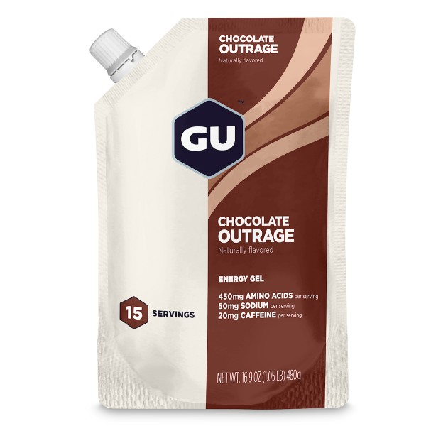 Energy Gel Vorratsbeutel MHD 30.11.2019 Chocolate Outrage Schokolade