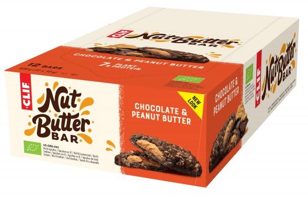 CLIF Bio Energie Riegel Nut Butter Bar MHD 16.06.2021 Chocolate Peanut Butter