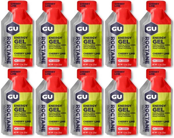 GU ROCTANE Energy Gel 288 Stück MHD 01.12.2020 Cherry Lime