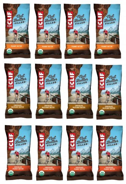 CLIF BAR Energie Riegel Nut Butter Bar 12-er Mixpaket MHD 19.01.2021