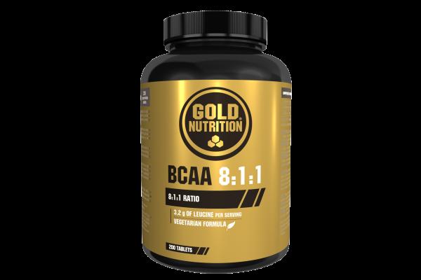 GoldNutrition BCAA 8:1:1 Kapseln 200 Stück MHD 01.11.2021