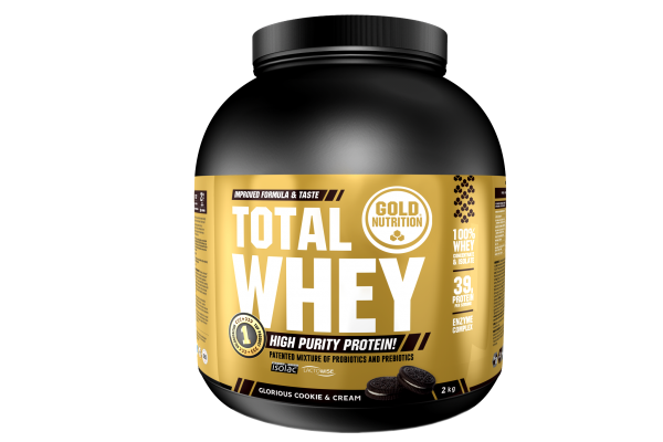 GoldNutrition Total Whey 2 KG Protein Shake Cookie & Cream MHD 03.2023