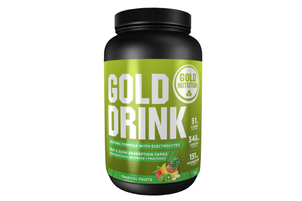 Gold Drink isotonischer Energy Drink MHD 01.01.2022 Tropical Fruits