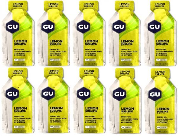 GU Energy Gel 288 Stück MHD 01.08.2021 Lemon Sublime