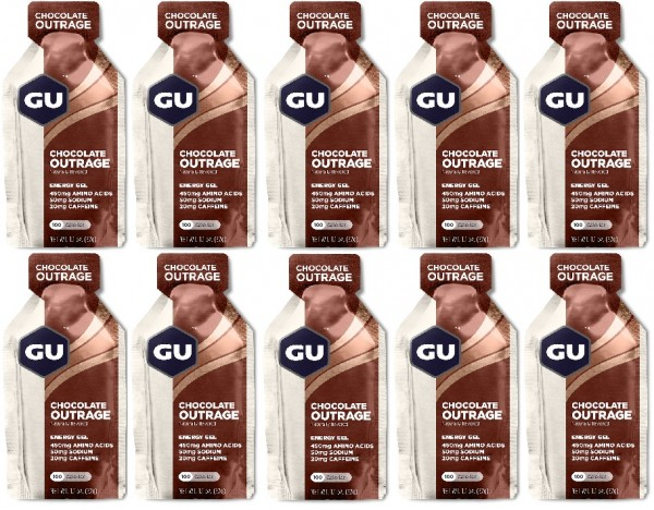 GU Energy Gel 288 Stück MHD 01.09.2021 Chocolate Outrage