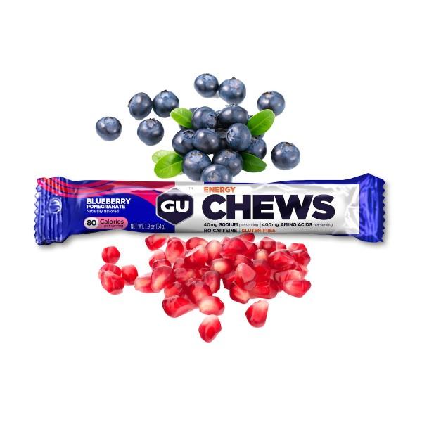 Energy Chews Fruchtgummis MHD 14.04.2020 Blueberry Pomegranate Blaubeere Granatapfel